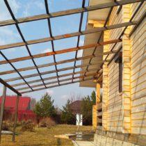 Строительство навеса в Серпухове