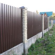Строительство забора из профнастила в Серпухове
