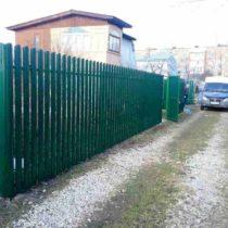 Забор из евроштакетника в Чехове