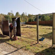 Забор из профнастила в Серпухове