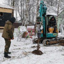 Строительство забора зимой в Серпуховском районе