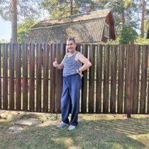 Ворота распашные и калитка из металлического штакетника в Серпухове