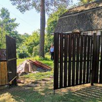 Ворота распашные и калитка из металлического штакетника Серпухов