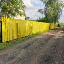 Забор из металлического штакетника Ral 1018